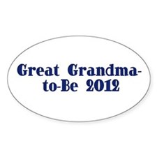 Great Grandma-to-Be 2012 Decal