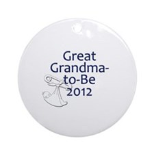 Great Grandma-to-Be 2012 Ornament (Round)