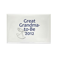 Great Grandma-to-Be 2012 Rectangle Magnet (10 pack