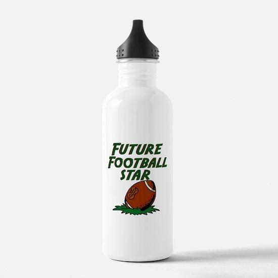 Cute Kids football player Water Bottle