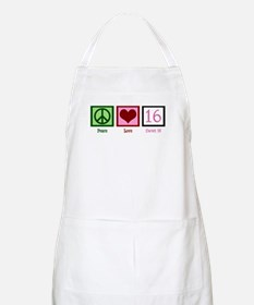 Peace Love Sweet 16 Apron