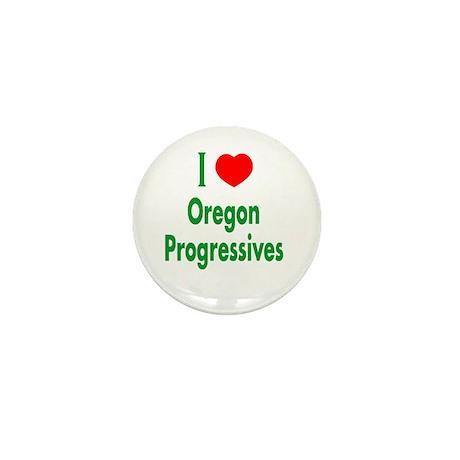 I Love Oregon Progressives Mini Button