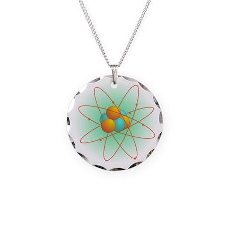 Atom Necklace Circle Charm