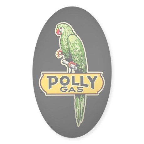Polly Gas Sticker (Oval)