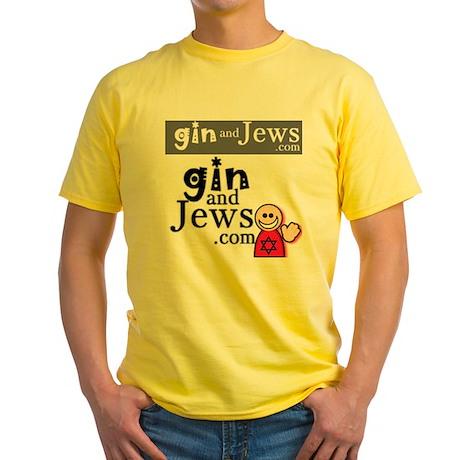 GinAndJews.com Yellow T-Shirt