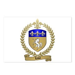 LEBEL Family Crest Postcards (Package of 8)
