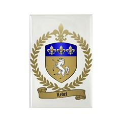 LEBEL Family Crest Rectangle Magnet
