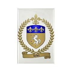 LEBEL Family Crest Rectangle Magnet