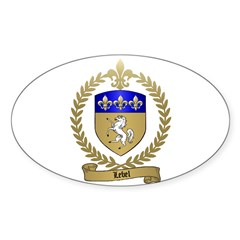 LEBEL Family Crest Oval Decal