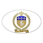 LEBEL Family Crest Oval Sticker