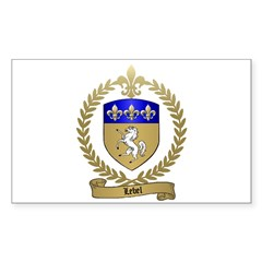 LEBEL Family Crest Rectangle Decal