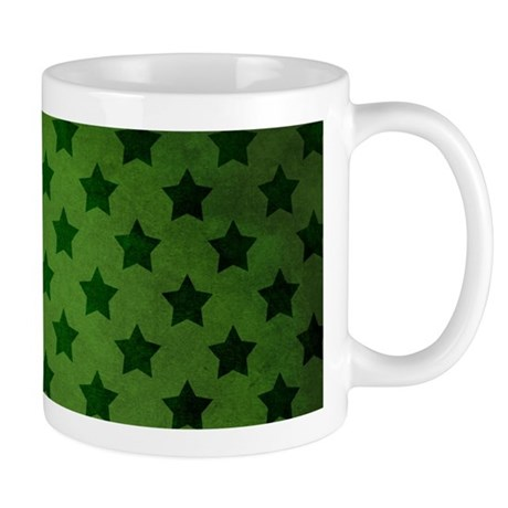 Vintage Stars, Green Mug