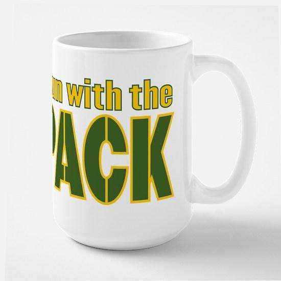 I run with the Pack Large Mug
