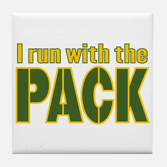 I run with the Pack Tile Coaster