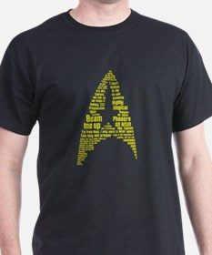 Star Trek Quotes Insignia Gold T-Shirt
