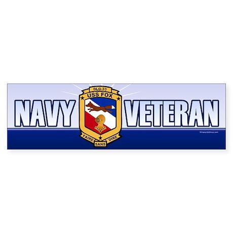 USS Fox Sticker (Bumper)