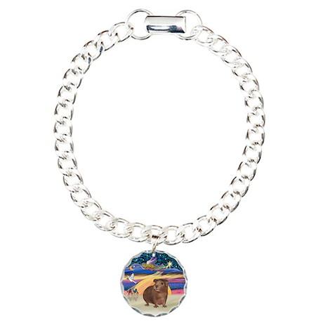 XmasStar-GuineaPig #3 Charm Bracelet, One Charm