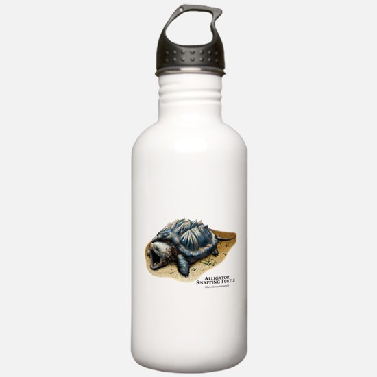 Alligator Snapping Turtle Water Bottle