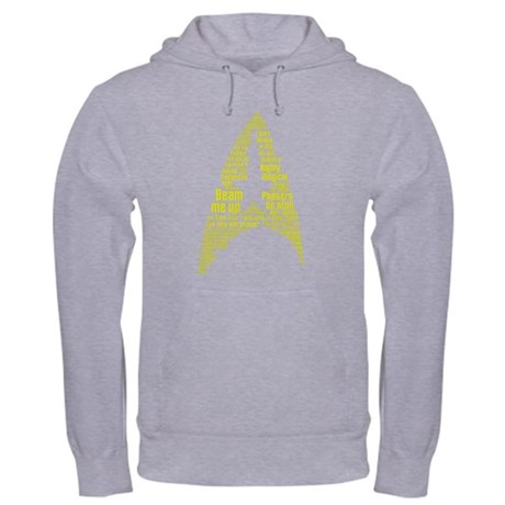 Star Trek Quotes (Insignia) Hooded Sweatshirt