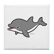 Dolphin (2) Tile Coaster