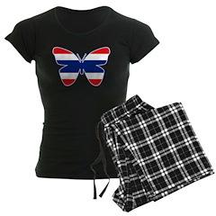 Thai Butterfly Flag Silhouette Pajamas