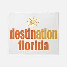 Destination Florida Throw Blanket