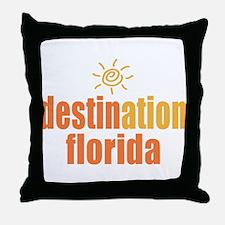Destination Florida Throw Pillow