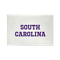 Blue South Carolina Rectangle Magnet (100 pack)