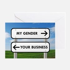 My Gender vs Your Business Greeting Card