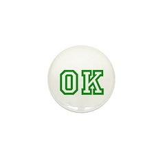 green OK Mini Button (10 pack)