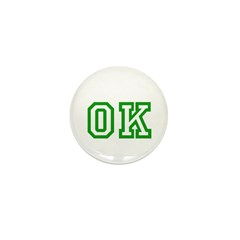 green OK Mini Button (10 pack)