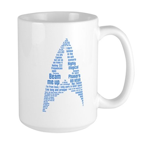 Star Trek Quotes (Insignia) Large Mug