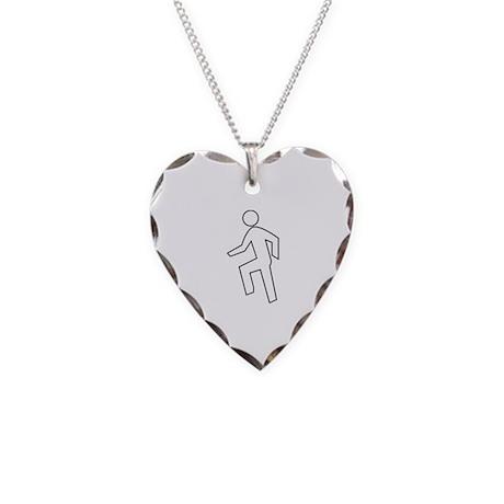 Everyday I'm Shufflin Necklace Heart Charm