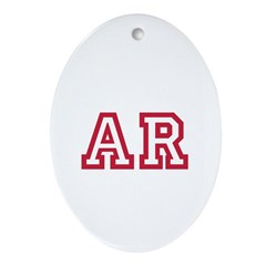 Cardinal AR Ornament (Oval)
