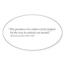 Gandhi quote Oval Bumper Stickers