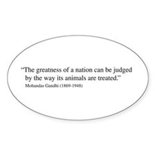 Gandhi quote Oval Stickers