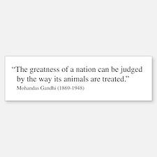 Gandhi quote Bumper Car Car Sticker