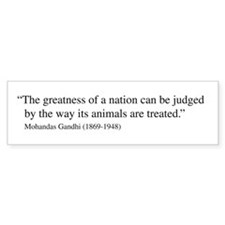 Gandhi quote Bumper Car Sticker