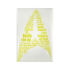 Star Trek Quotes (Insignia) Rectangle Magnet