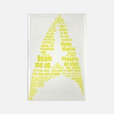 Star Trek Quotes (Insignia) Rectangle Magnet