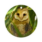 Palm Tree Owlet Ornament (Round)