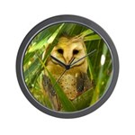 Palm Tree Owlet Wall Clock