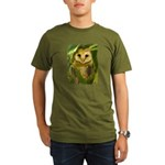 Palm Tree Owlet Organic Men's T-Shirt (dark)