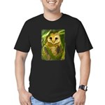 Palm Tree Owlet Men's Fitted T-Shirt (dark)