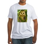 Palm Tree Owlet Fitted T-Shirt