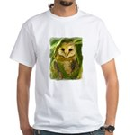 Palm Tree Owlet White T-Shirt