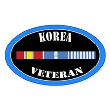 Korean War 5 Campaign Stars Decal