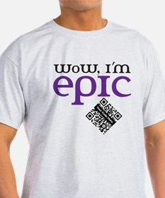 Custom QR WoW, I'm Epic T-Shirt