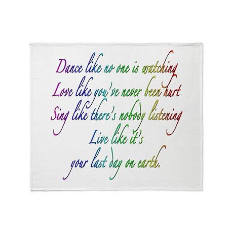 Dance Like No One is Watching Throw Blanket