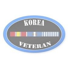 Korean War 2 Campaign Stars Decal